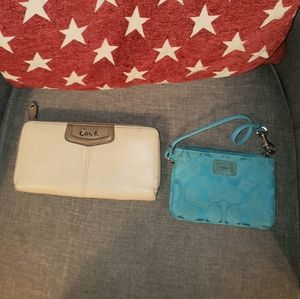 2 Coach Wallets in Fair Condition